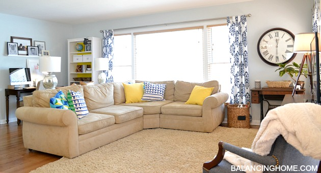 Spruced Up Living Room  New Arrangement  Balancing Home