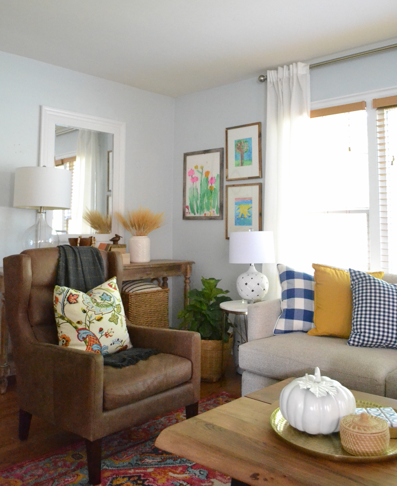 decorating ideas in living room home decor for fall balancing and believe it or not the baskets that were brought into plant on coffee table end all things my laws