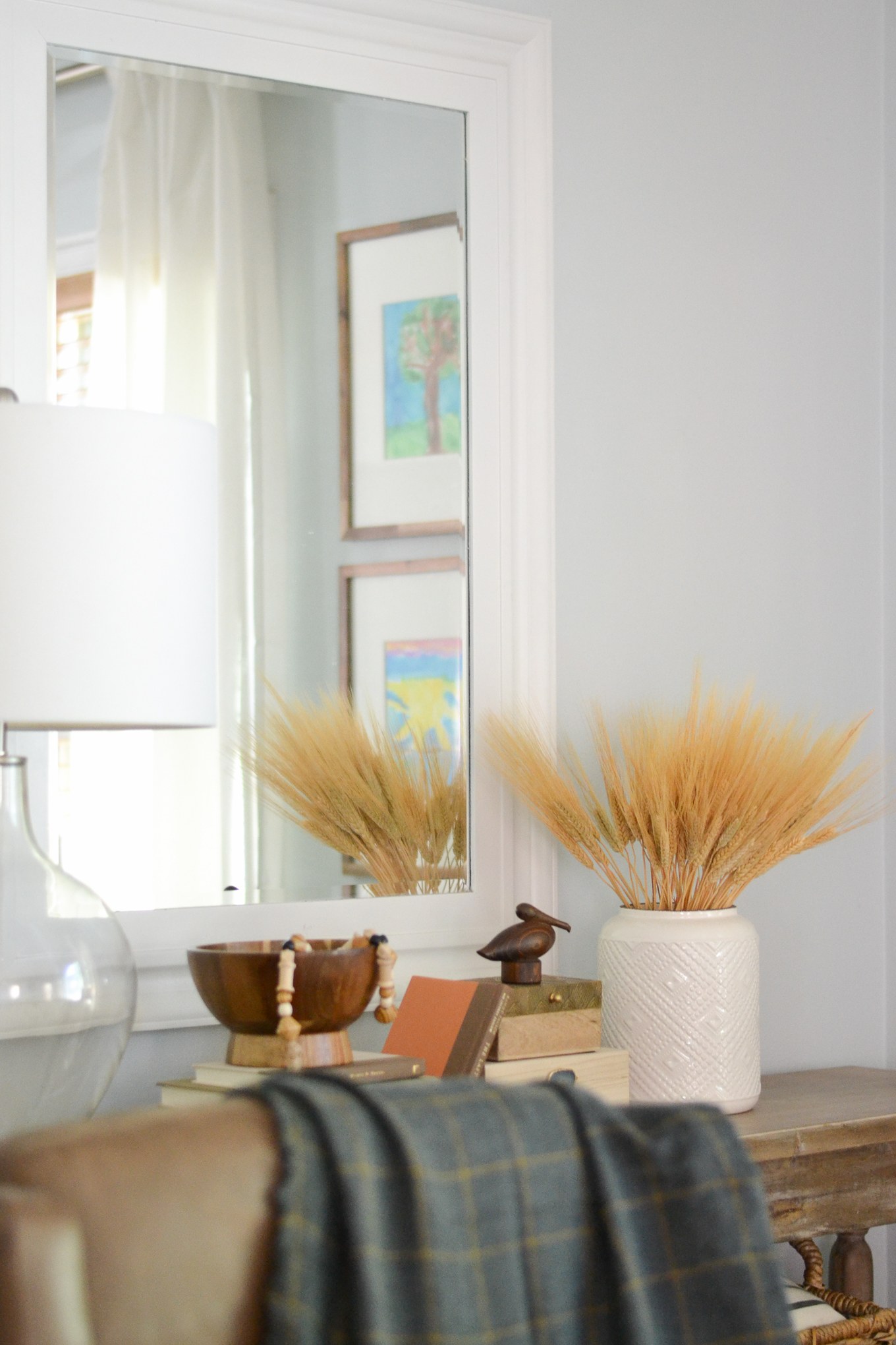 living room wooden ideas modern decor 2017 decorating for fall balancing home my additions included a bowl and figurine the wood was clearance find at target man do i love me aisle end cap