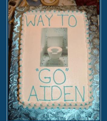 "Potty Training Celebration Cake: Way To ""Go"""