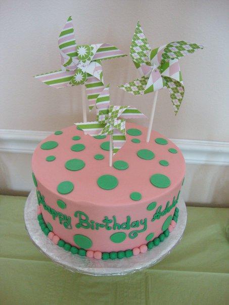 pinwheel birthday cake