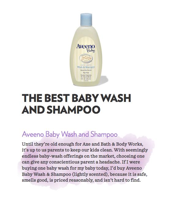 best baby shampoo