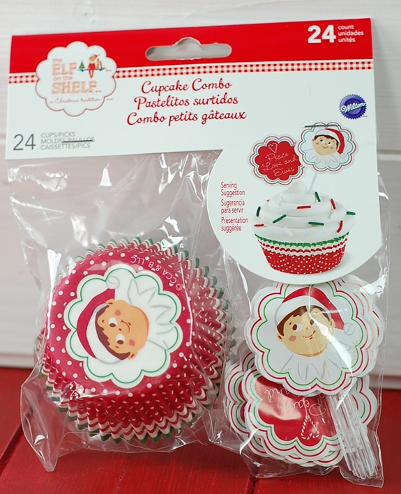 Elf on the Shelf cupcake liners