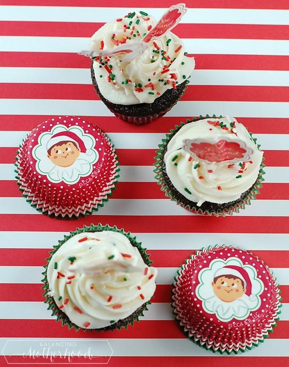 Elf on the Shelf cupcake