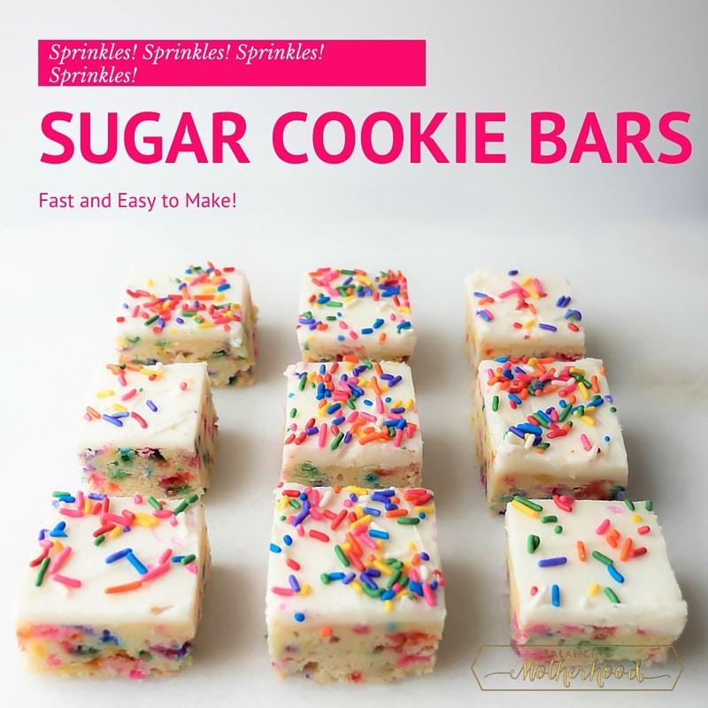 Funfetti Sugar Cookie Bars - YUMMY!