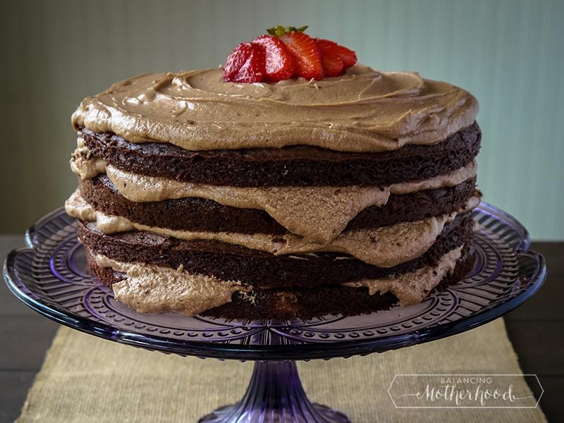 dark chocolate mocha cake