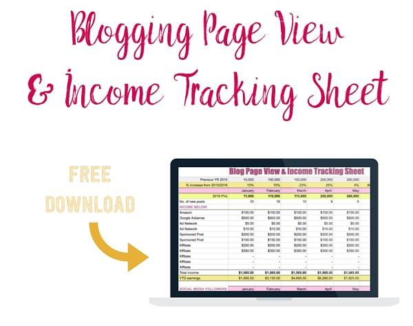 Download your free blogging tracking spreadsheet