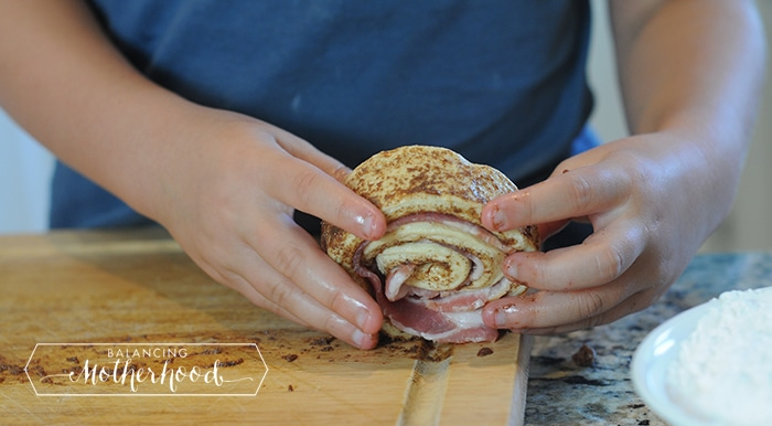 maple bacon cinnamon rolls in less than 30 minutes
