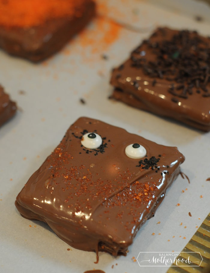 chocolate covered smores