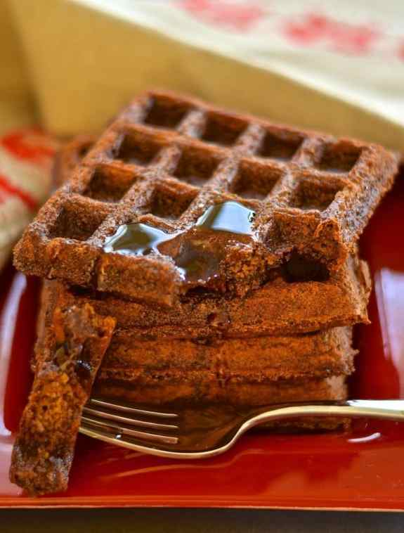Gingerbread waffles make a great Christmas breakfast!