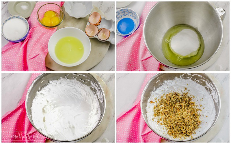 ingredients to make Italian meringue cookies