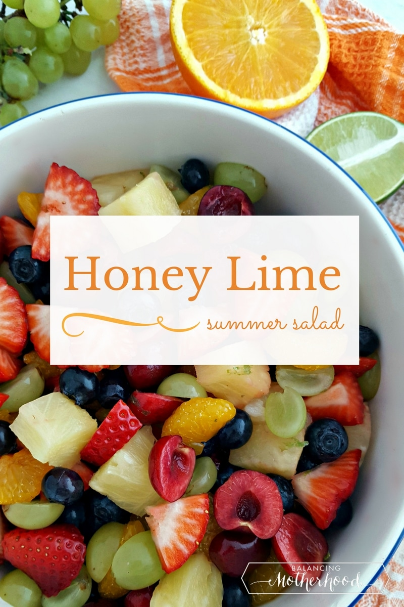 Fruit salad recipe using fresh summer fruit!