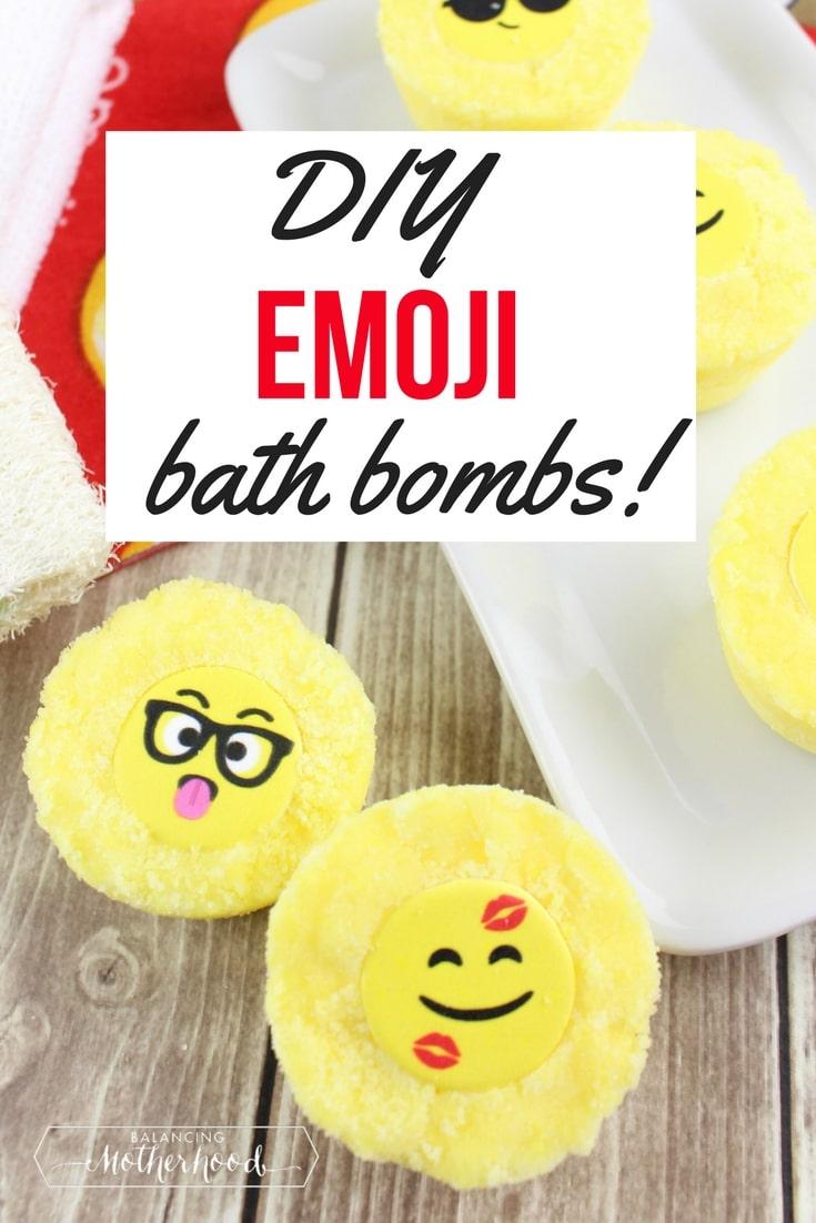 yellow emoji bath bombs