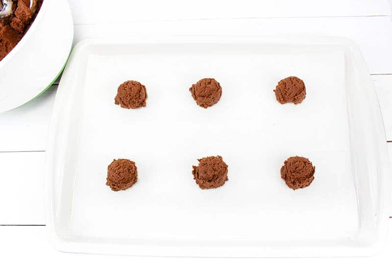 Chewy Chocolate Peppermint Cookies In Process 4