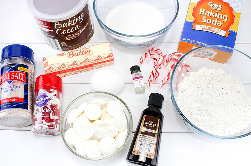 Chewy Chocolate Peppermint Cookies Ingredients