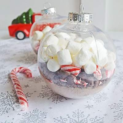 Hot Chocolate Ornament Gift