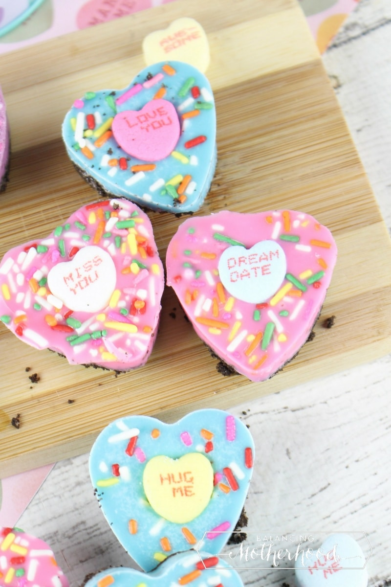 oreo bark conversation heart