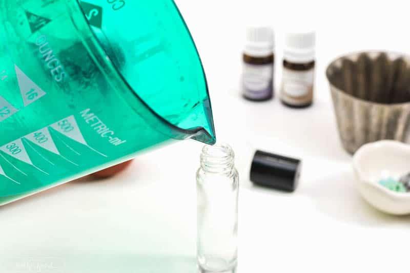 Make your own DIY essential oil roller bottle.