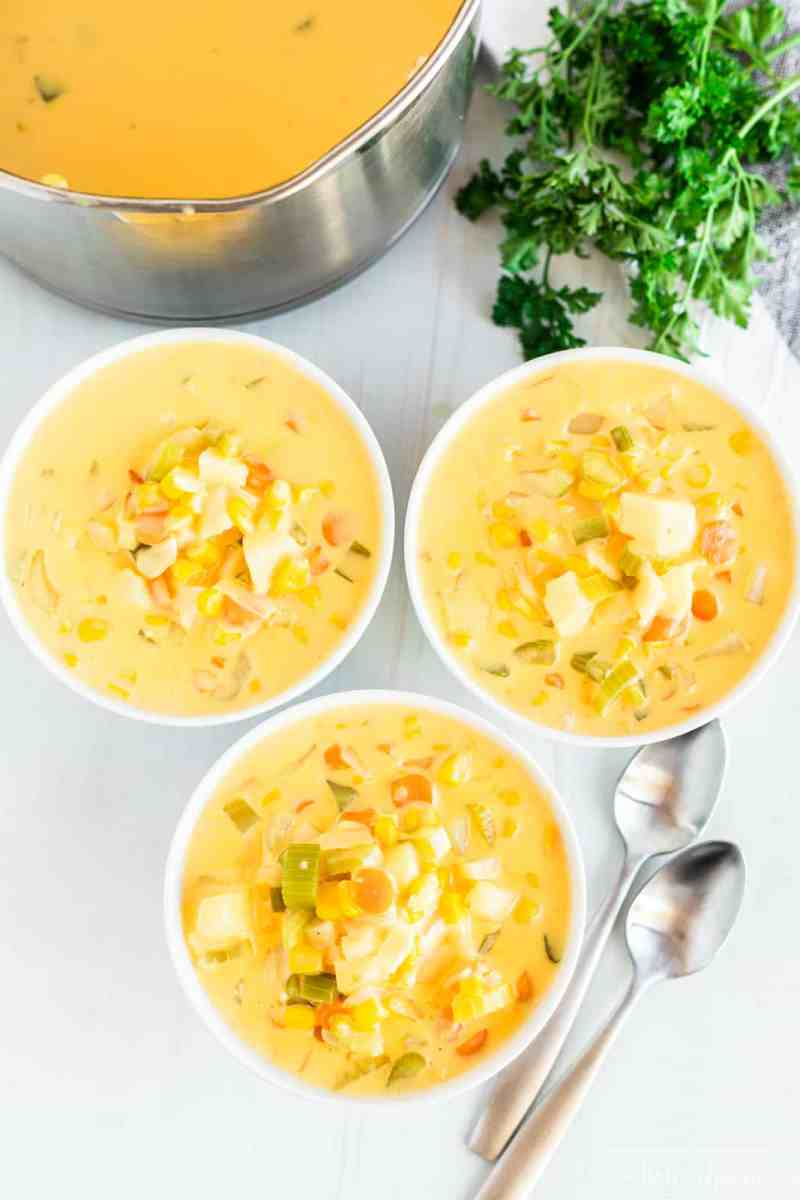 Share this corn chowder soup with your family and friends!