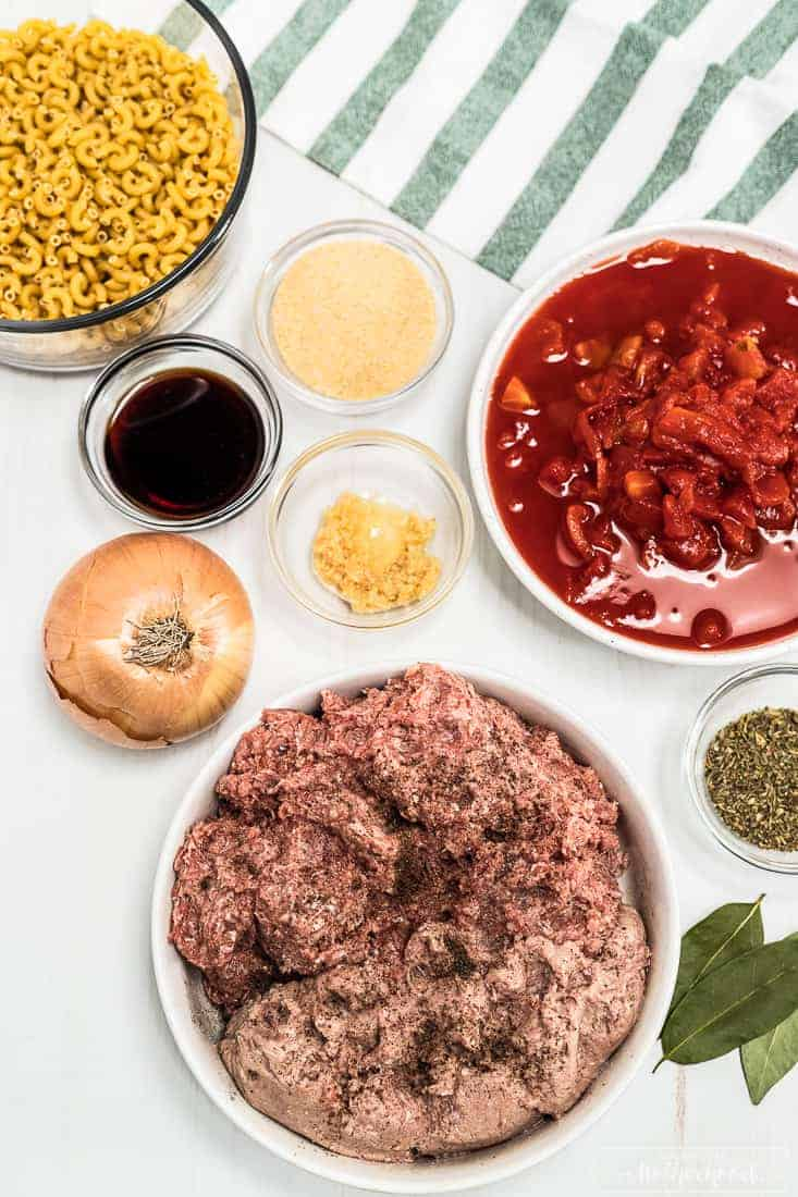 Ingredients of the Goulash recipe