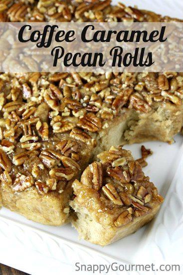 Coffee Caramel Pecan Rolls Recipe
