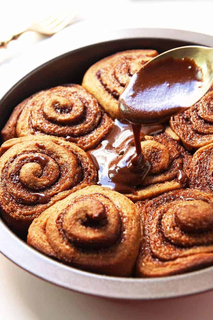 Gingerbread Cinnamon Rolls » LeelaLicious