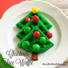 Christmas Tree Waffle Recipe