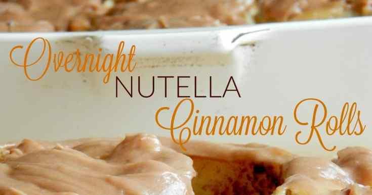 Overnight Nutella Cinnamon Rolls