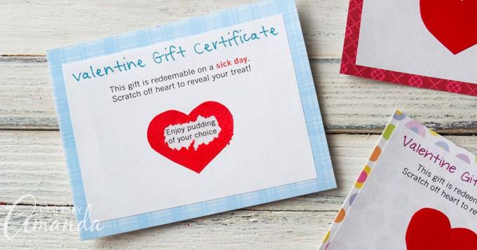 Scratch Off Valentine Gift Certificates: suprise your Valentine!