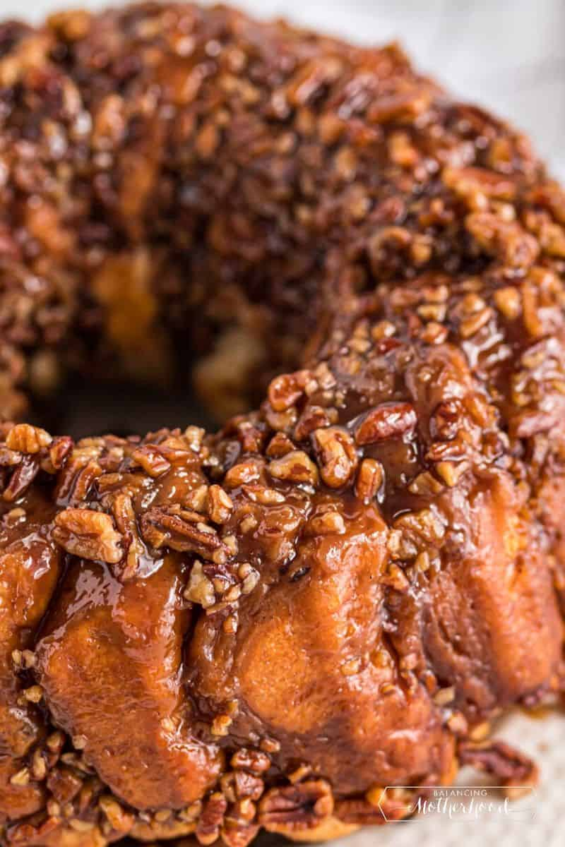 sticky bun ring from bundt pan