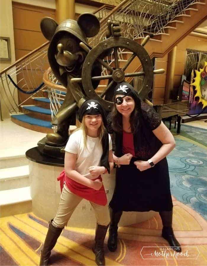 Disney cruise pirate night costumes on cruise ship