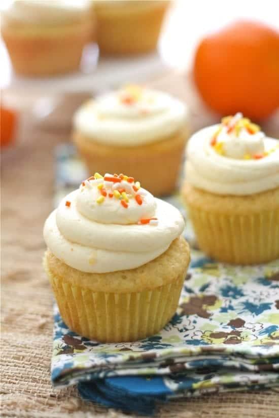 Orange Cupcakes with Orange Frosting