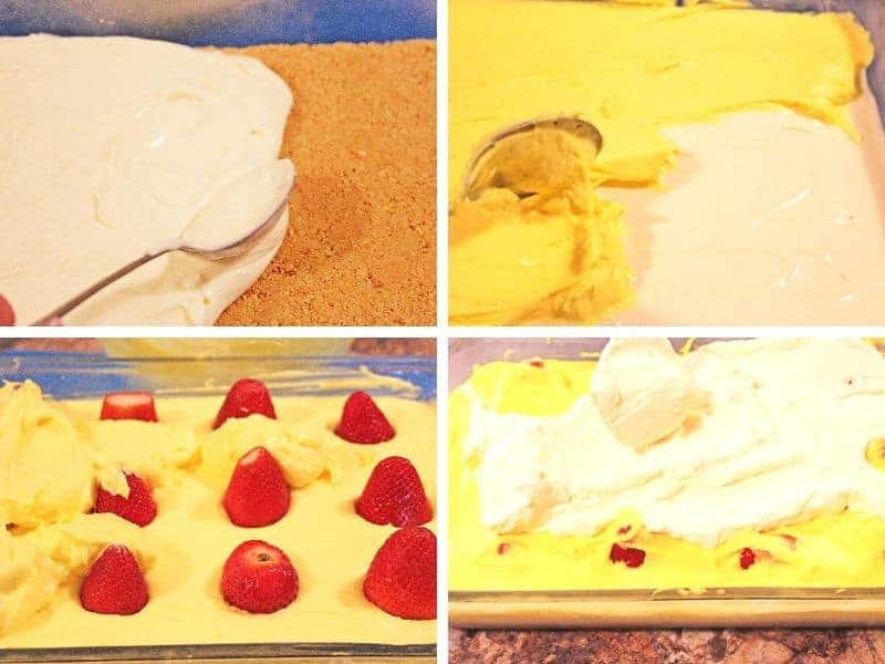 how to make strawberry lemon lasagna