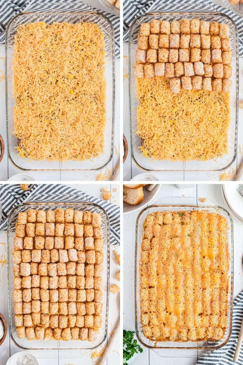 tater tot casserole layers