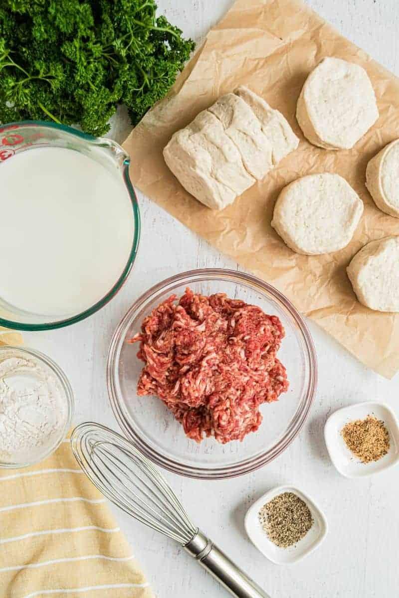 sausage gravy ingredients