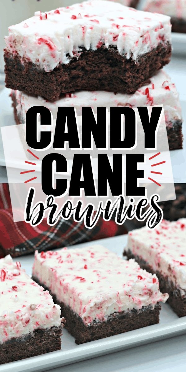 Candy Cane Brownies are a rich, chocolate and peppermint brownie topped with a peppermint buttercream frosting.