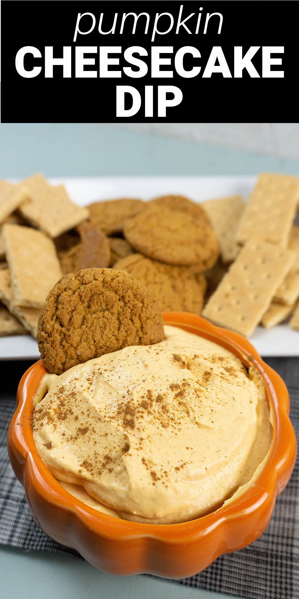 This easy Pumpkin Cheesecake Dip is a creamy snack full of everyone's favorite fall flavors. Made with just 4 ingredients it can be a sweet appetizer or fun dessert.