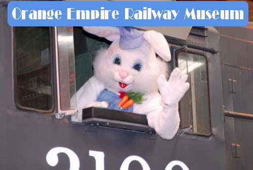 Orange Empire Railway Bunny train