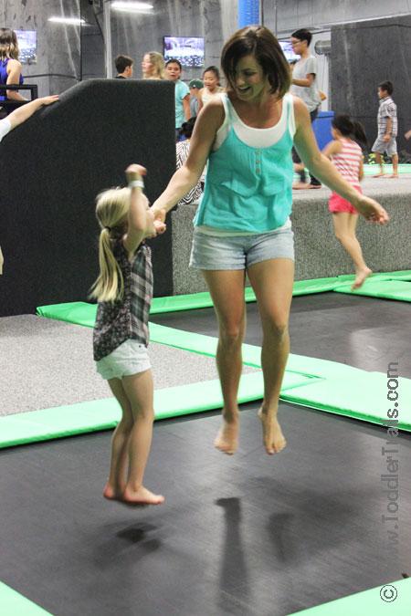 Get Air Surf City Trampoline Park, family fun, family jump, open jump huntington beach