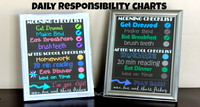 FREE Printable: Kids Daily Responsibility Chart