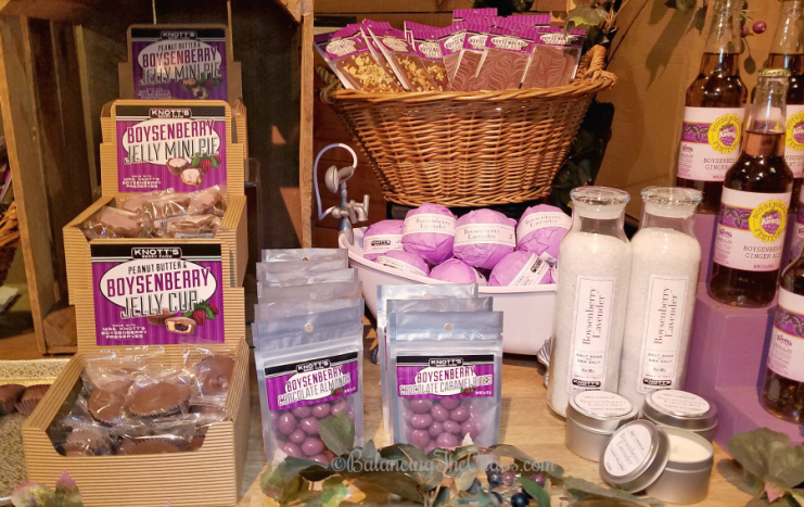 Boysenberry merchandise bath and body line