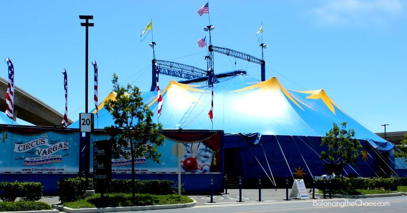 Circus Vargas Blue Yellow Big Top