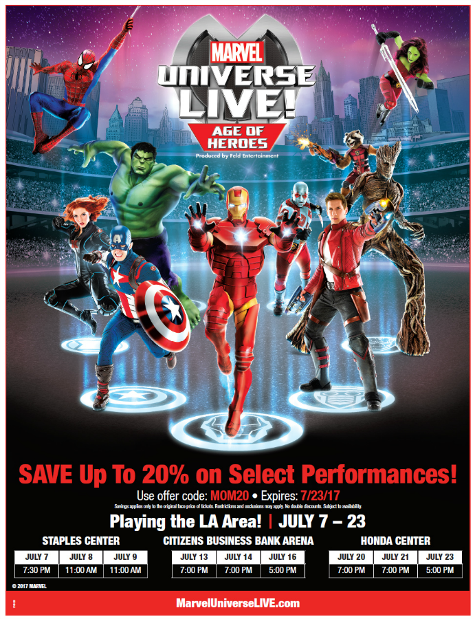 Save With Marvel Universe Live! Discount + Giveaway | @MarvelUniverseTour #MarvelUniverseLive