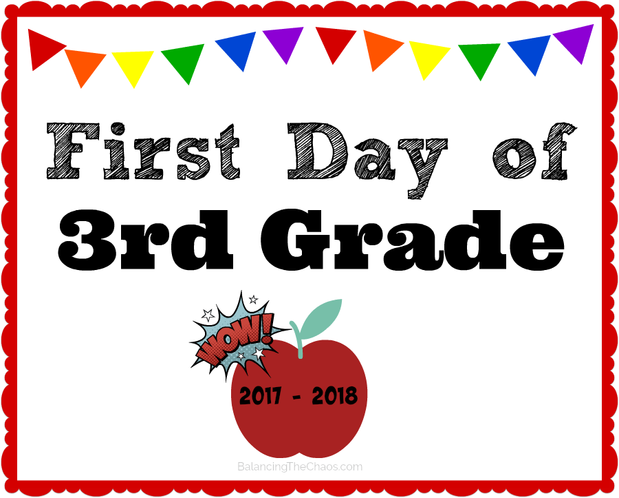 free back to school printable 3rd grade 2017 2018