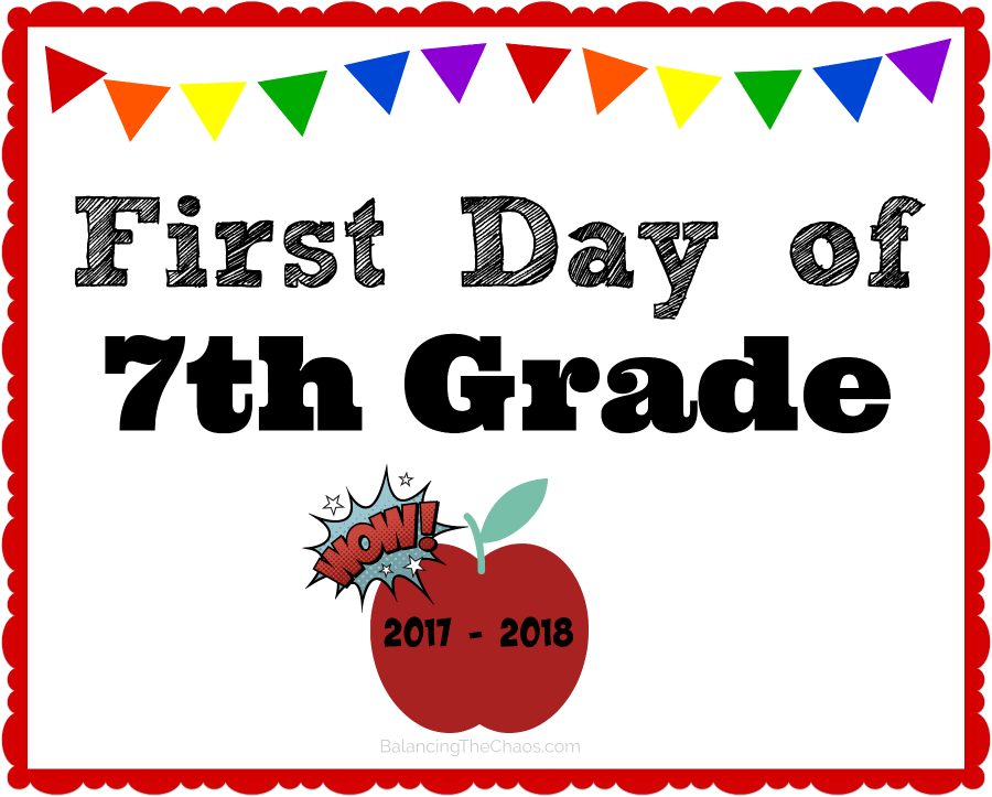 7th Grade Back To School Free Printable 2017 2018