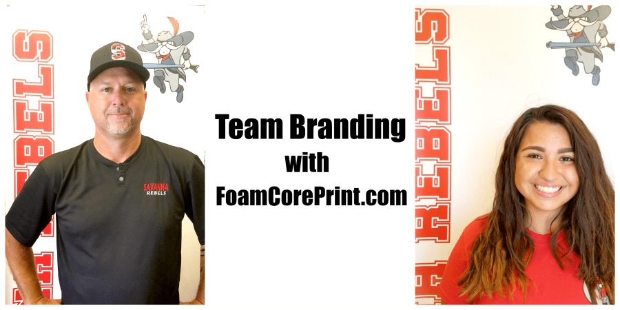 Team Branding with FoamCorePrint.com | @Foamcoreprint1