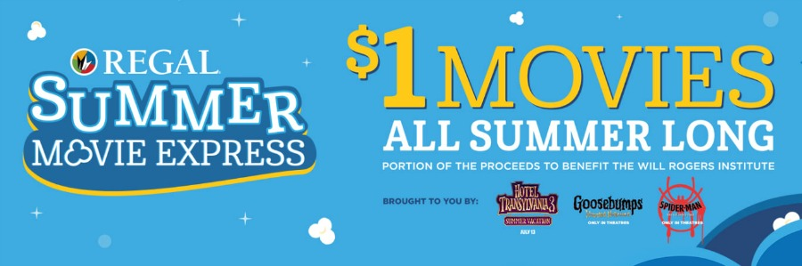 $1 Summer Movies - Regal Summer Movie Express 2018