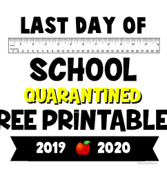 FREE PRINTABLE: 2020 Last Day of School Quarantine Signs - Balancing The  Chaos [ 1275 x 1650 Pixel ]