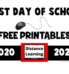 FREE PRINTABLES: 2020 – 2021 First Day of School Distance Learning Signs -  Balancing The Chaos [ 1100 x 1650 Pixel ]