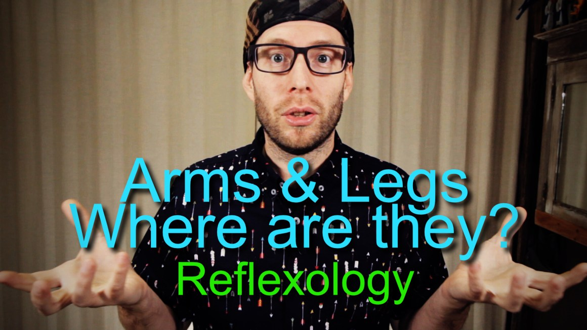where to place the arms and legs on the feet